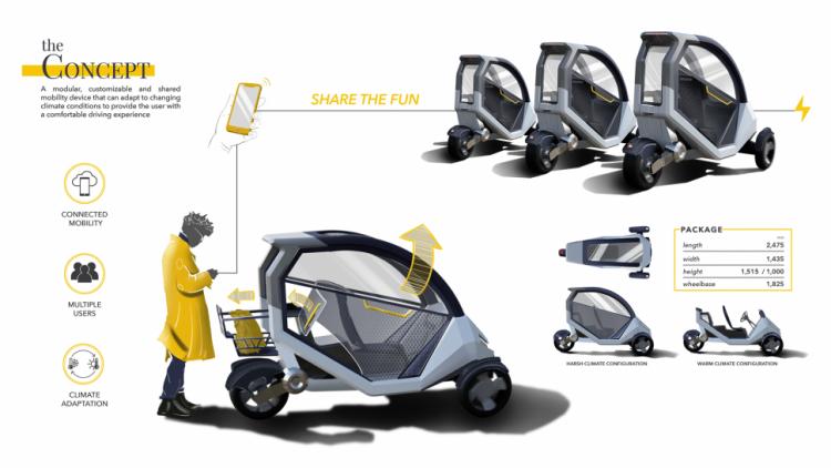 Humber College Industrial Design Student Wins At Brp International Design Competition Motum Electrical Vehicle Concept Impresses Judges